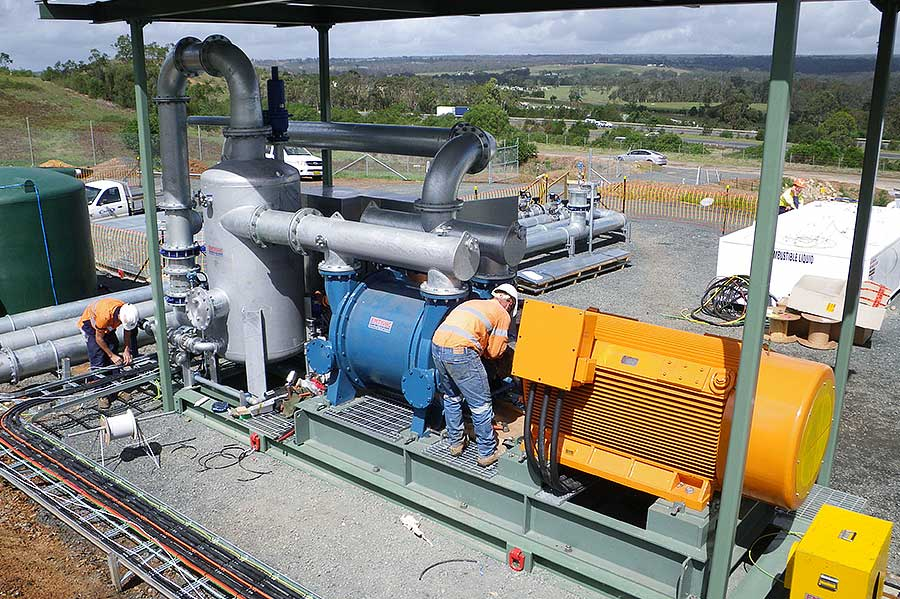 Mining Installation of Rototech 400kW 12P Powering a Propane Extraction Pump